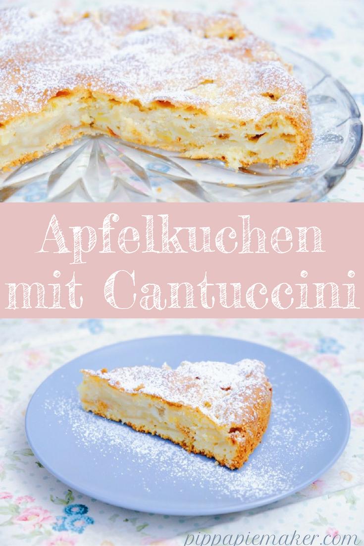 Apfelkuchen mit Cantuccini