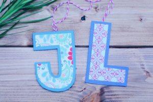 Letter Christmas Ornaments by pippapiemaker.com