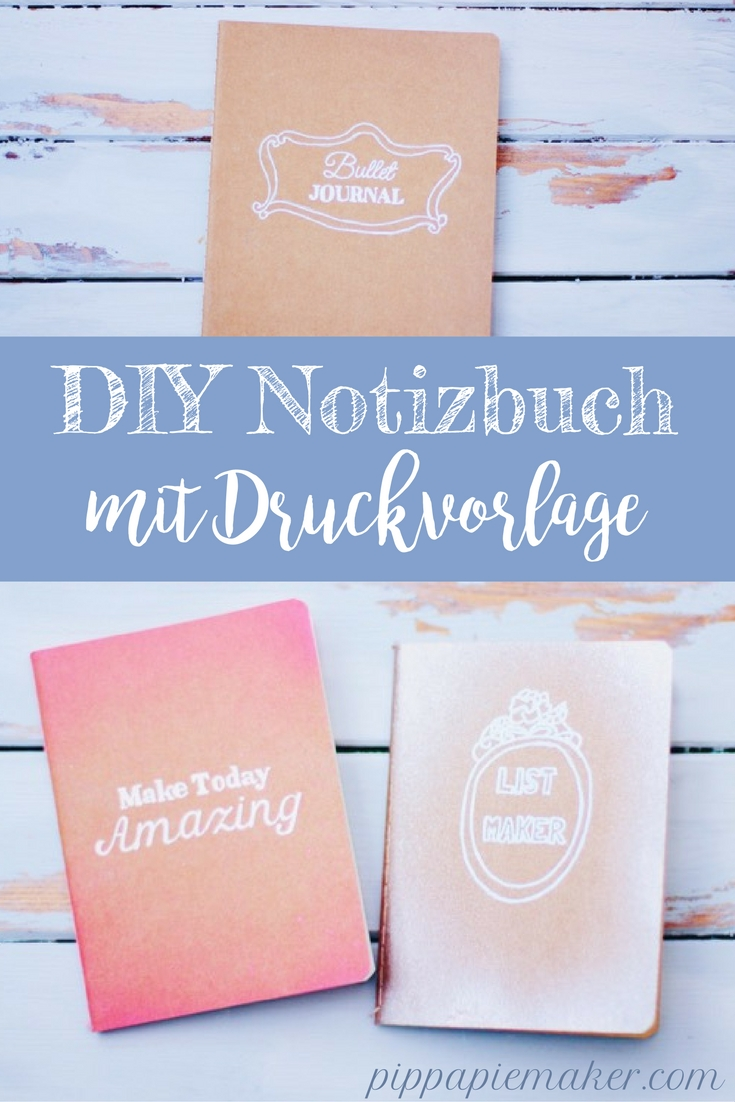 DIY Notizbuch by pippapiemaker.com
