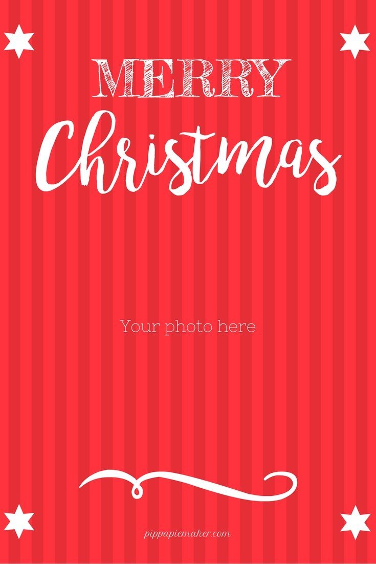 Free Printable Christmas Card by pippapiemaker.com