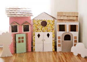 cardboardhouses by a beautiful mess