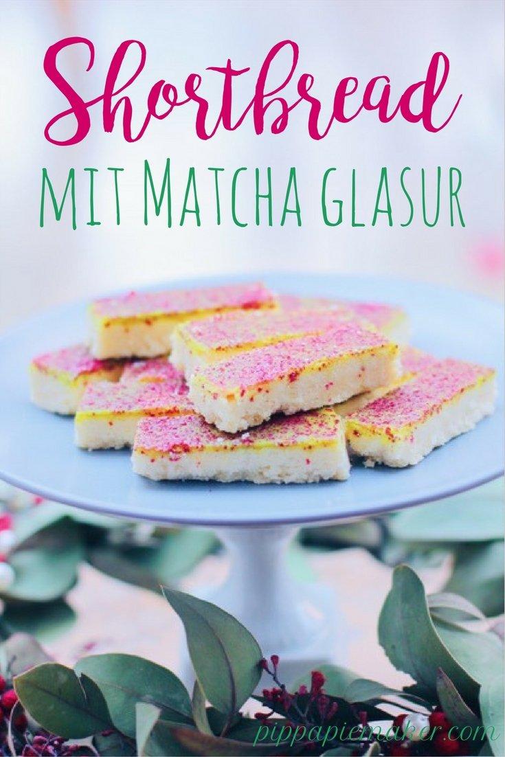 Shortbread mit Matcha Glasur by pippapiemaker.com