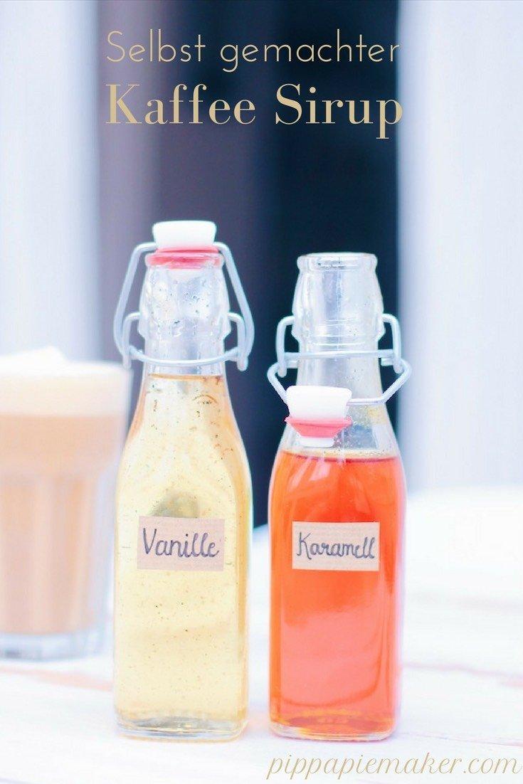 Diese Rezepte für Vanillesirup und Karamellsirup sind kinderleicht und so lecker für deinen Latte, Cappucino oder einfachen Kaffee!