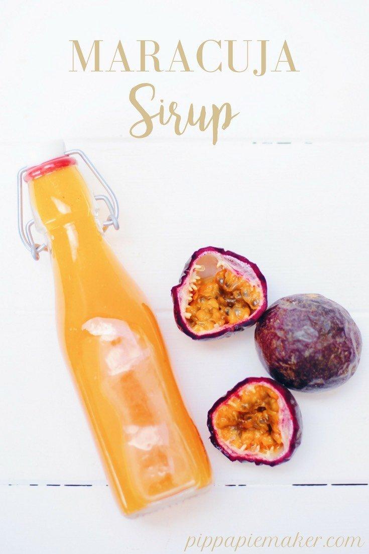 Maracuja Sirup selbst zu machen ist wirklich easy! Und der Sirup eignet sich für Limonade, als einfacher Dessert mit Eis, fürs fruchtige Salatdressing oder für einen Prosecco Spritz.