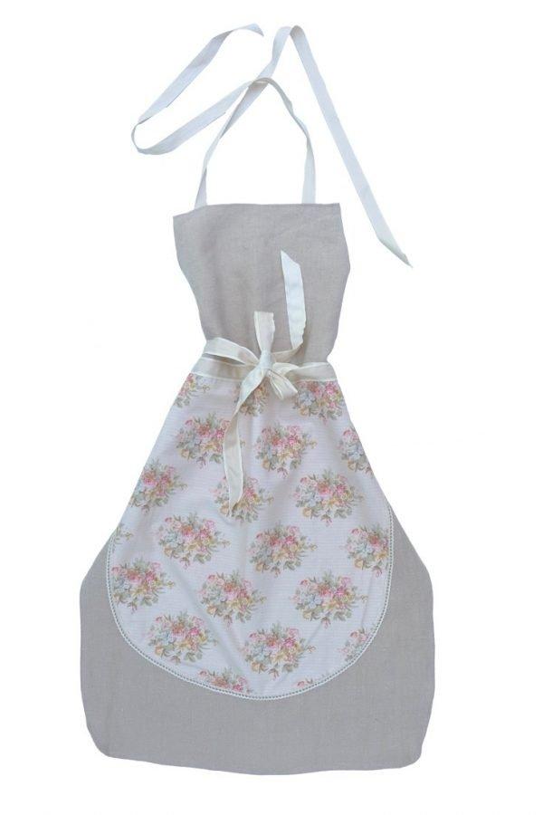 Die Leinenschürze Ava ist schlichte und elegant. Für alle, die in der Küche Lebensqualität wollen.