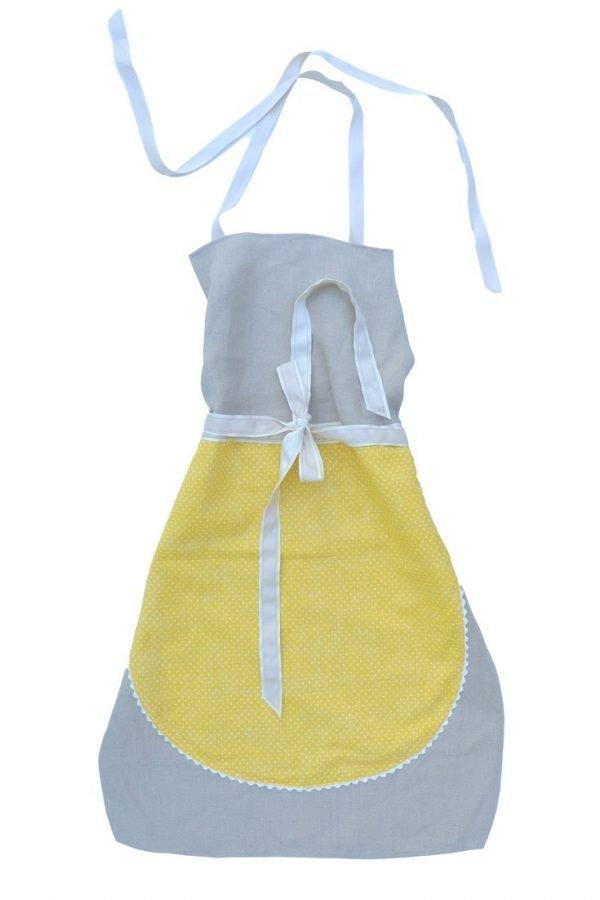 Die Leinenschürze Fanny versprüht gute Laune in der Küche. Für jeden, der mit Sonne im Herzen kocht!