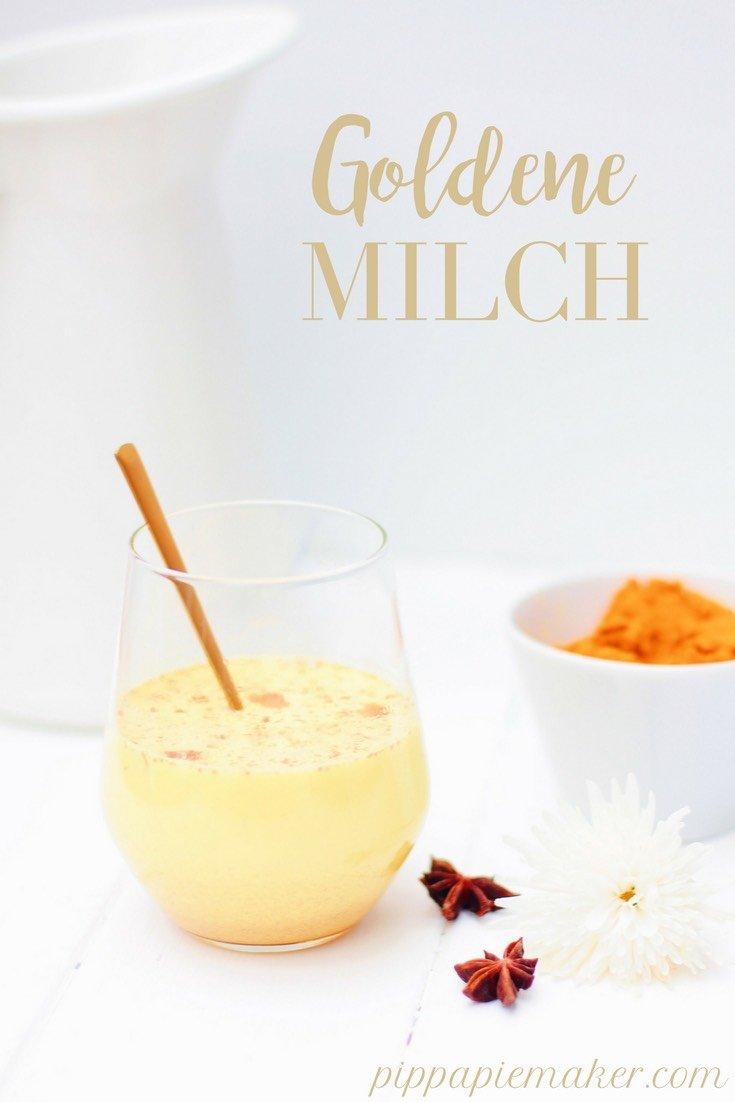 Goldene Milch schmeckt herrlich lecker und der Kurkuma darin ist ein richtiges kleines Wundermittel. Er wirkt stimmungsaufhellend und schlaffördernd. Perfektes Abendritual bei Winterdepression und Schlafstörungen in der kalten Jahreszeit.
