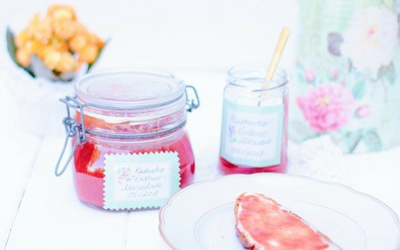 Rhabarber-Erdbeer Marmelade