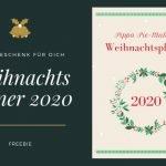 Der Weihnachtsplaner 2020 ist dieses Jahr mein Geschenk an dich! Du kannst dir das Freebie einfach herunterladen, ausdrucken und losplanen. Mehr Vorfreude und ein entspanntes Weihnachtsfest garantiert!