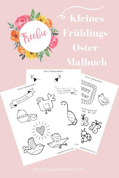 Ein Frühlingsmalbuch als Freebie für euch, perfekt zum Oster Basteln mit Kindern. Für Osterkarten, Fensterbilder, Girlanden oder was auch immer ihr damit machen wollt!